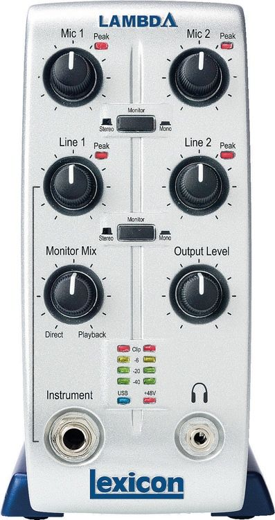 lexicon lambda desktop usb audio interface guitarra audio mac pc phantom power. Black Bedroom Furniture Sets. Home Design Ideas
