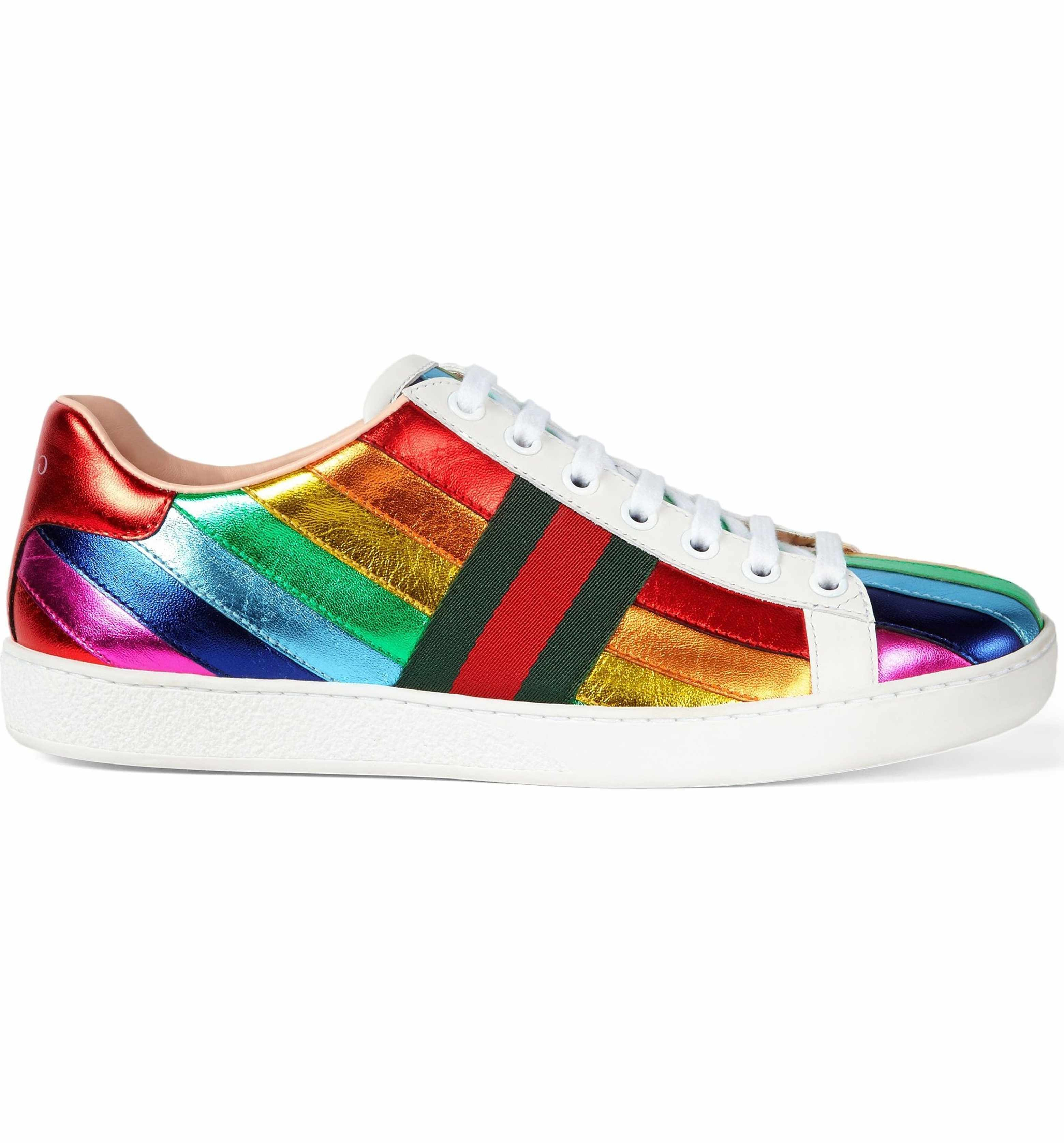 68e4868b6ab Main Image - Gucci New Ace Rainbow Sneaker (Women)