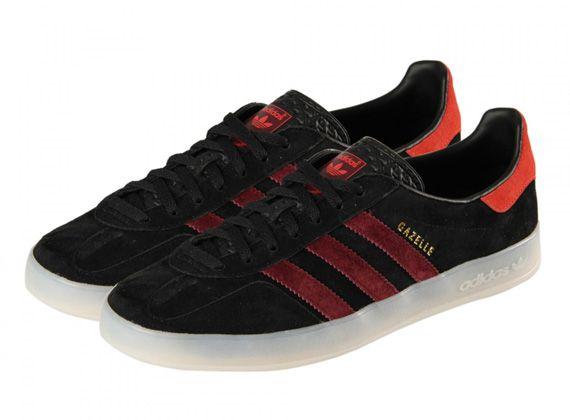 adidas Originals Gazelle Indoor - Black - Red - SneakerNews.com