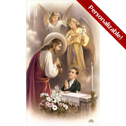Boy First Communion Traditional Personalized Prayer Cards (Priced Per Card)   The Catholic Company
