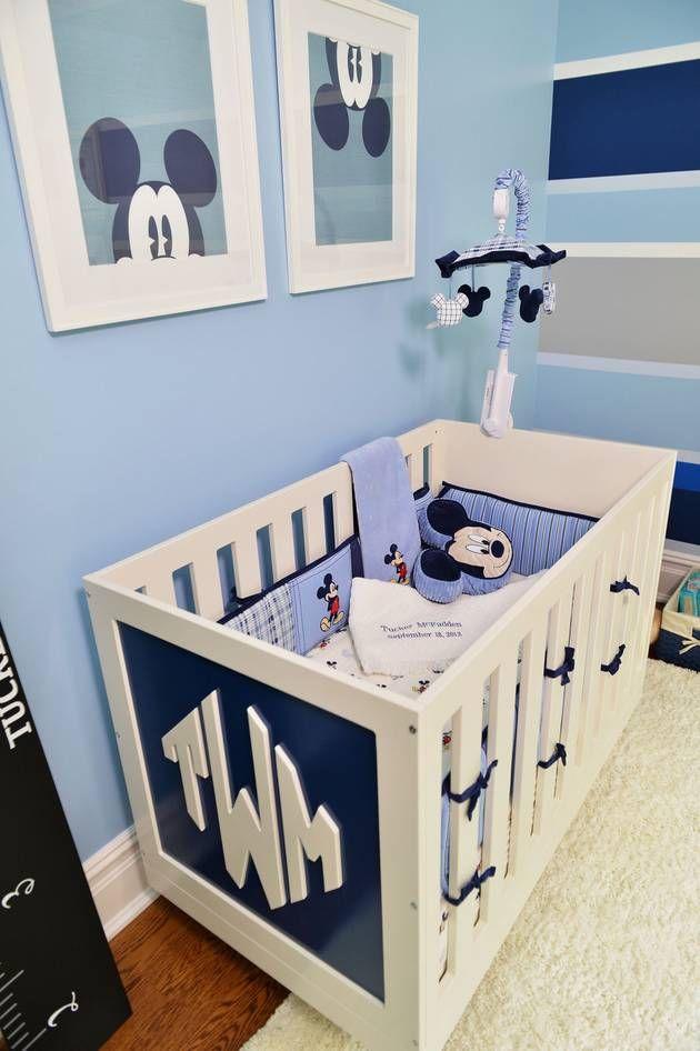 Crib Monogram And Disney Mobile Diy Bebe Disney Kinderzimmer