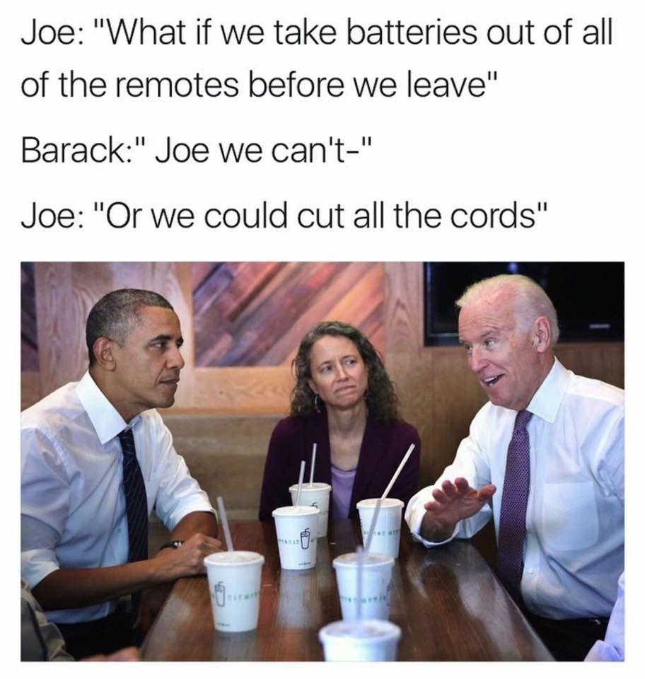 Funny Obama Quotes Joe Biden Barack Obama Donald Trump Meme  Uncle Joe Biden