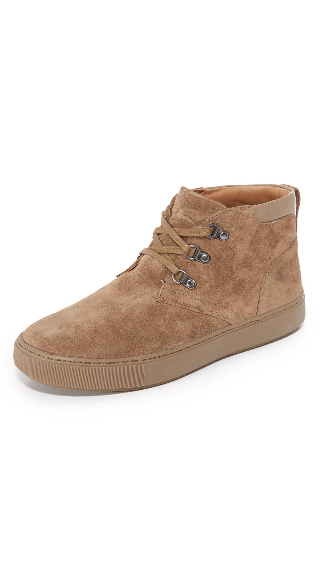 VINCE Lewis Suede Mid Top Sneakers. #vince #shoes #sneakers