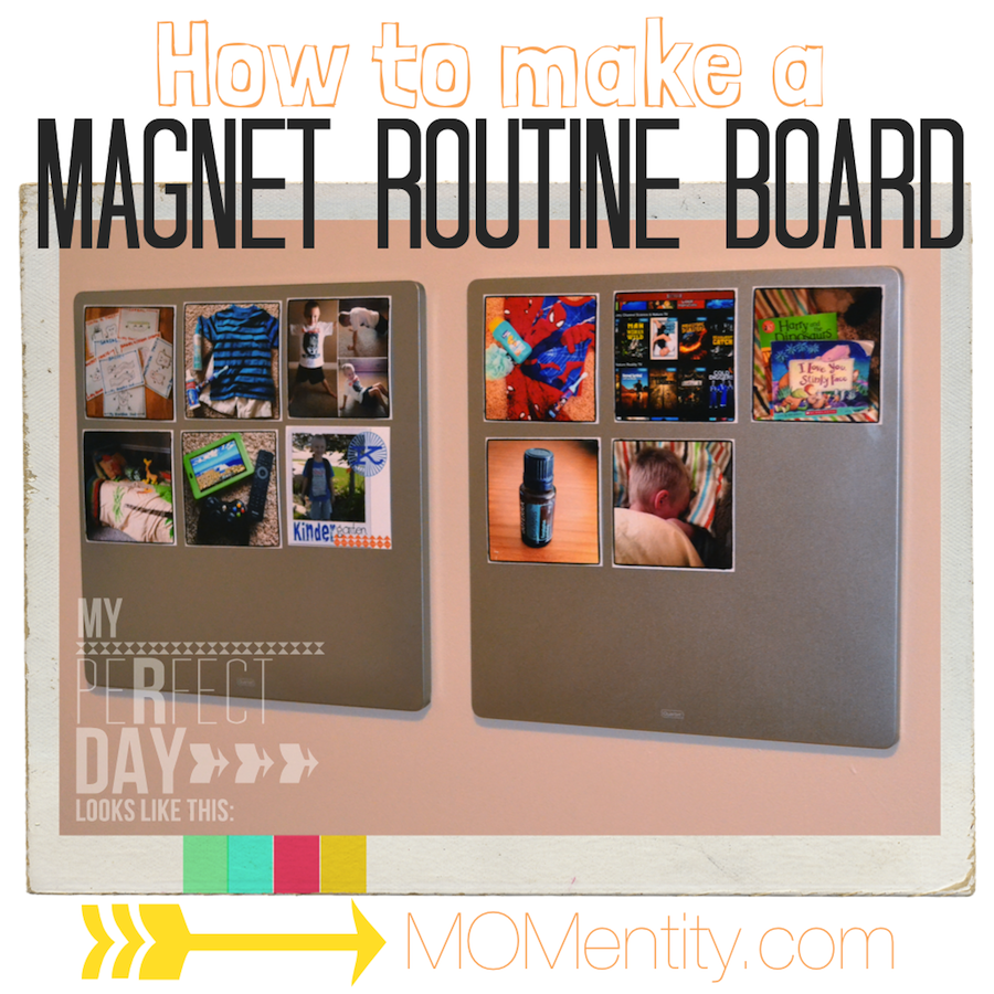 how to make a magnetic routine board good for kids with spd or autism