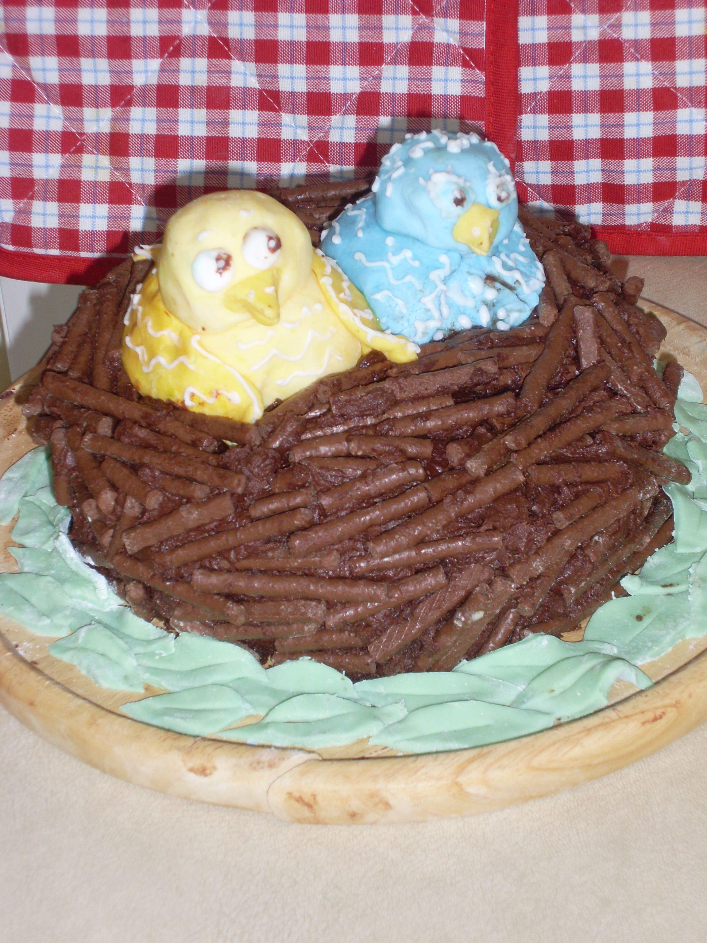 birds in the nest cake
