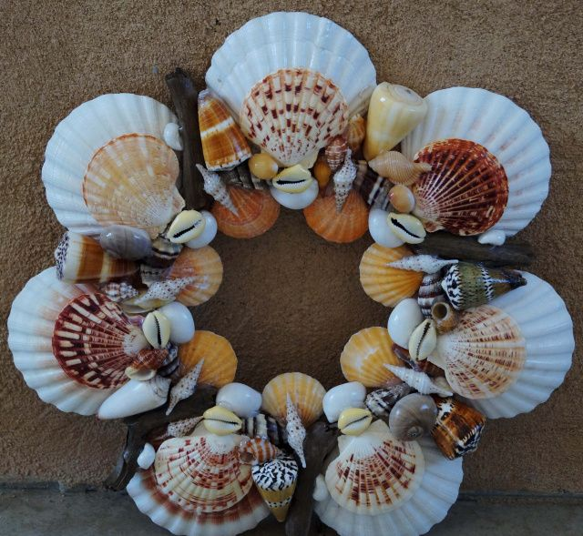 Caribbean Imports Wholesale Shells Seashell Wreath Starfish Wreath Beach Home Decoration Seashell