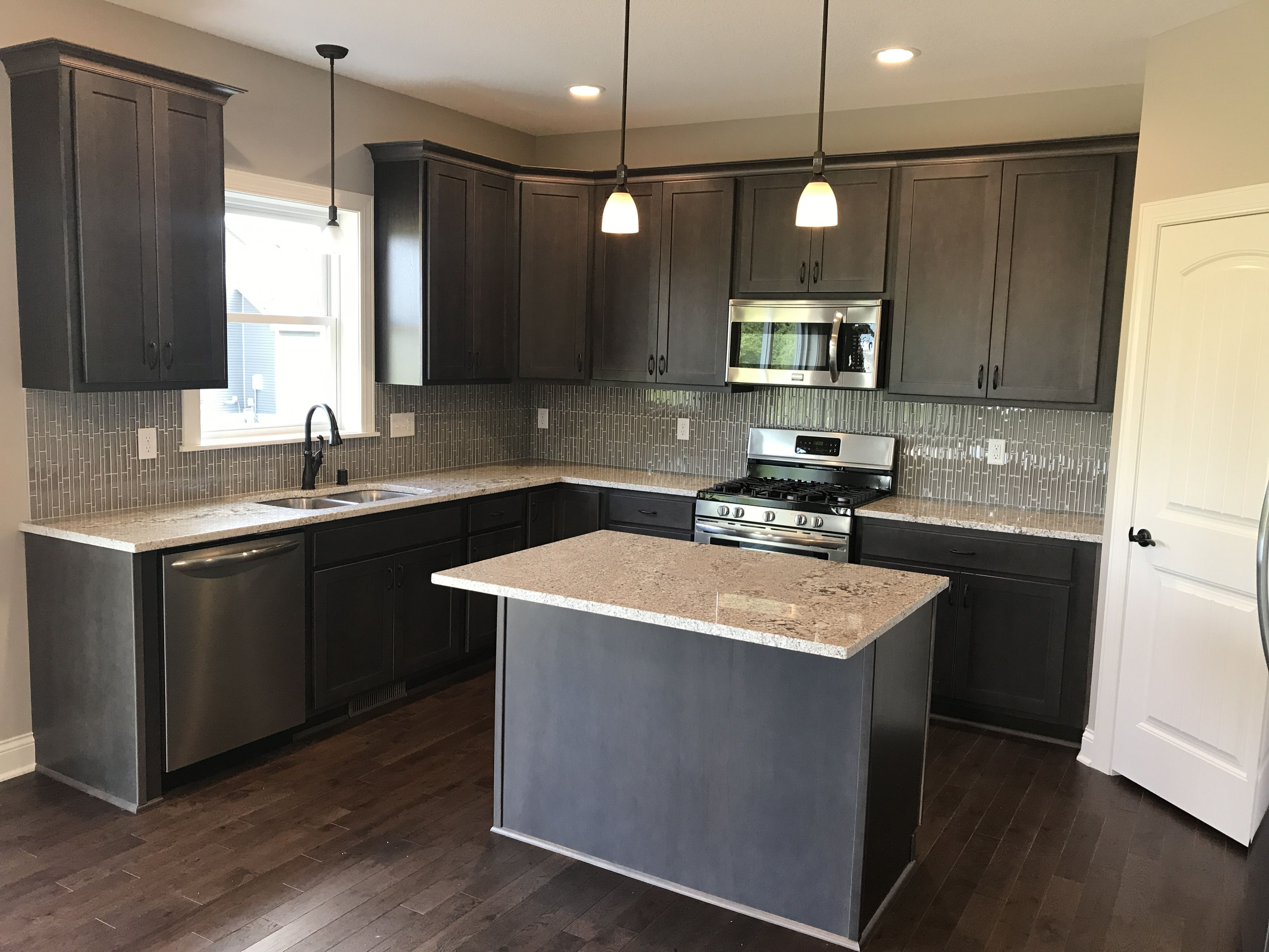 Legacy cabinets, Maple wood specie, Charcoal stain color ...