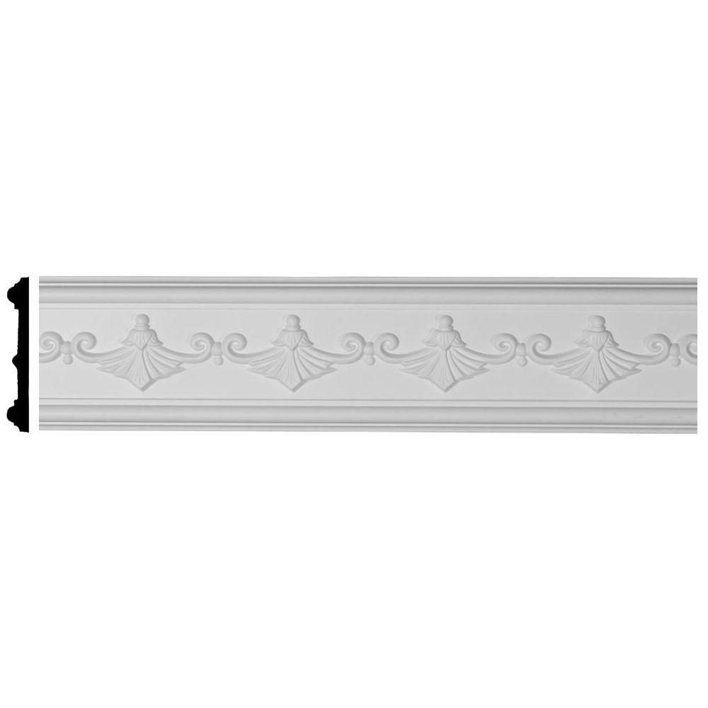 Ekena Millwork 5 8 In X 4 In X 94 1 2 In Polyurethane Sydney Panel Moulding Factory Primed White Products Panel Moulding Wall Panel Molding