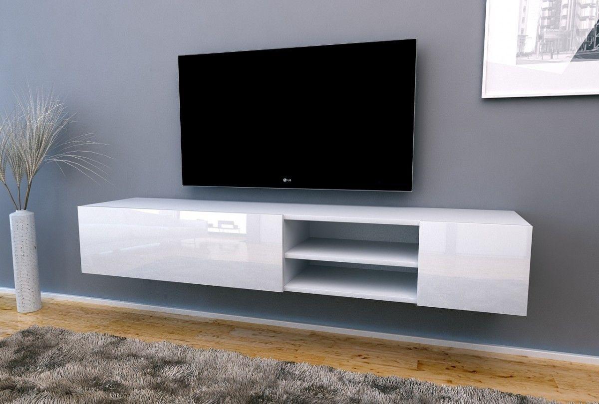 Nasmaak tv meubel galicia special hoogglans wit 180 cm for Hoogglans wit tv meubel