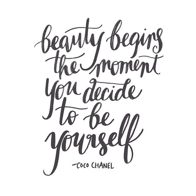 "Beauty begins the moment you decide to be yourself."" - Coco Chanel ..."