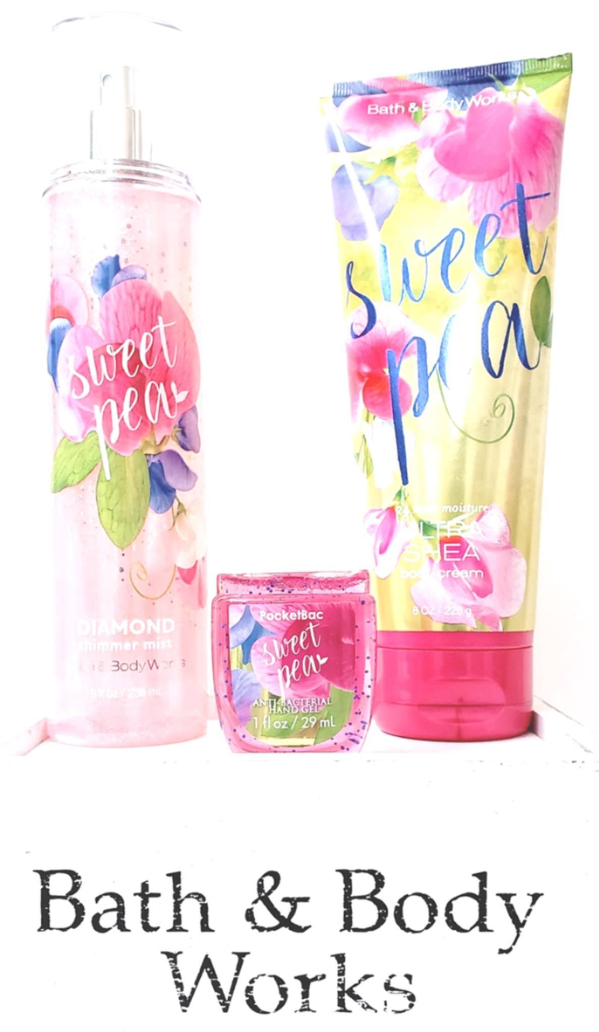 Bath And Body Works Sweet Pea Diamond Shimmer Mist Body Cream