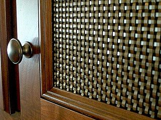 Bronze Mesh Cabinet Door Infill Panels By Bankerwire Via Flickr