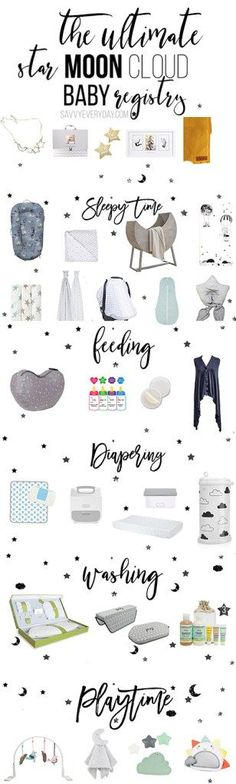 the ultimate star moon and cloud baby registry baby shower  the ultimate star moon and cloud baby registry