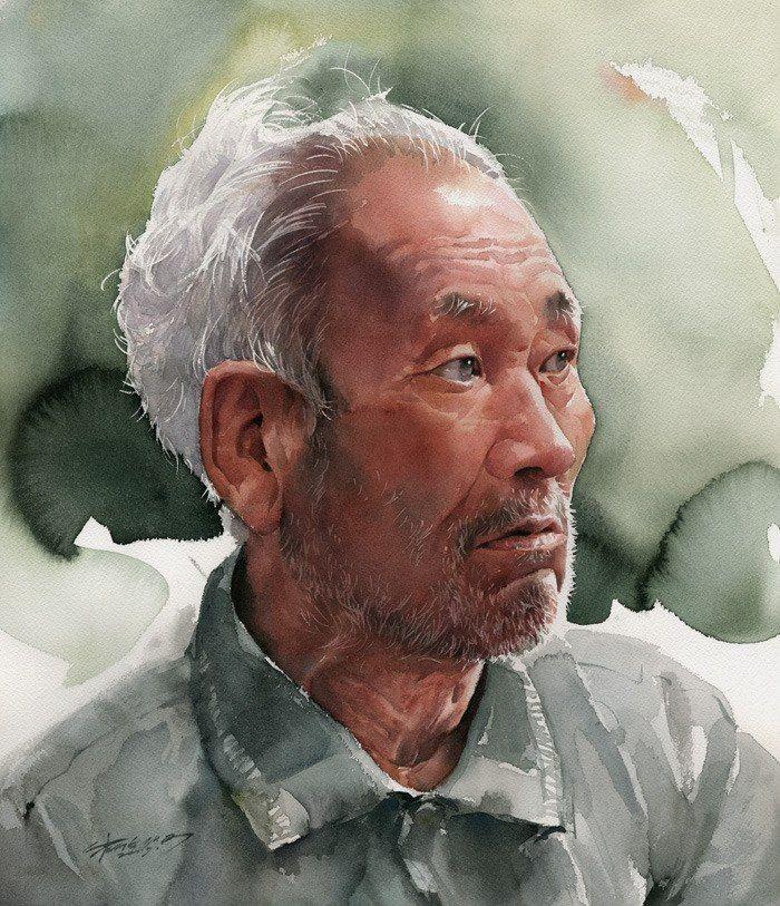 Akvarelnye Portrety Misulbu South Korea Akvarelnye Portrety Akvarelnoe Lico Sozdanie Portretov