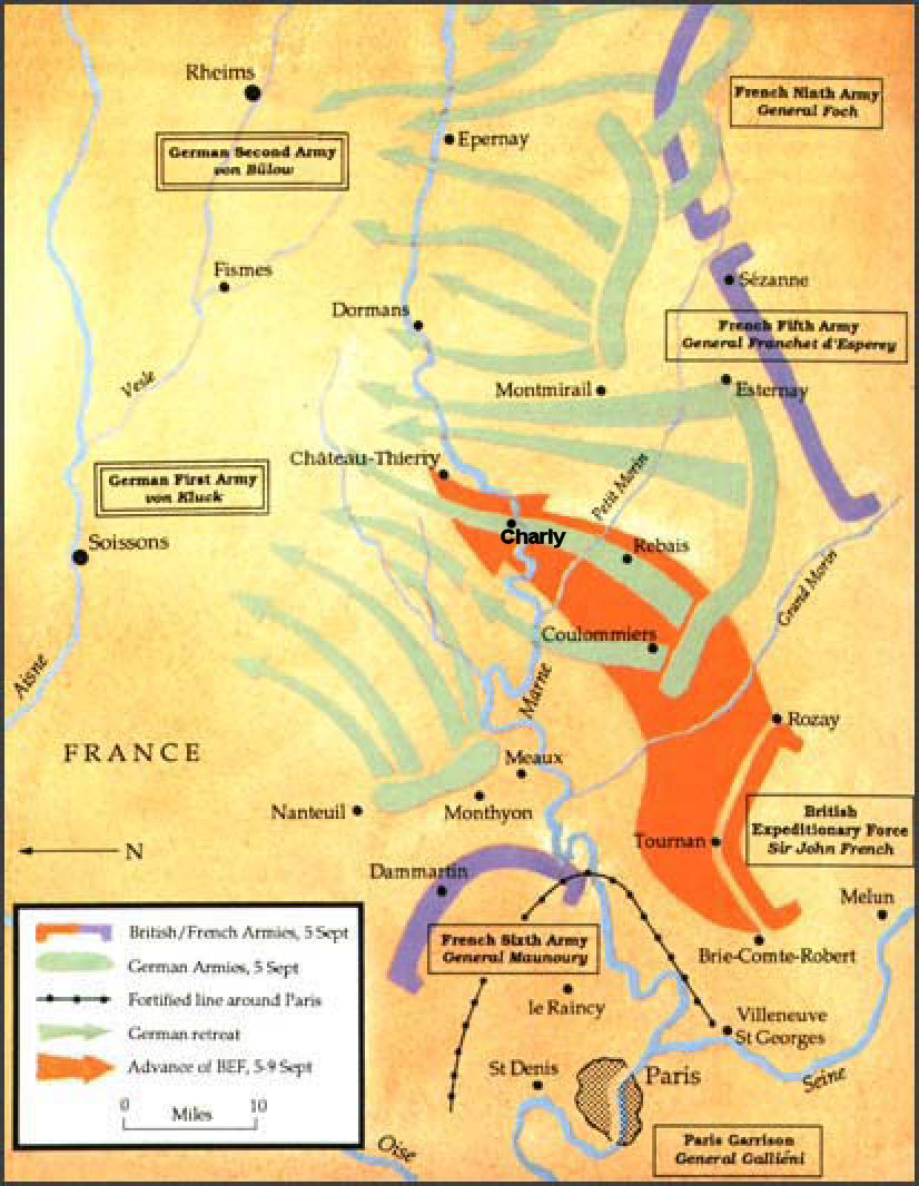 4 13 September 1914 Battle Of Marne The Rapid Advances Of The German Army Through Belgium And Northern France Caused Panic In The F Marne World War One Map