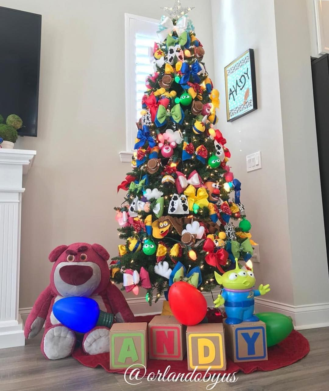 How Adorable Is This Toy Story Themed Christmas Tree From Orlandobyus We Love Disney Christmas Tree Theme Disney Christmas Tree Disney Christmas Decorations