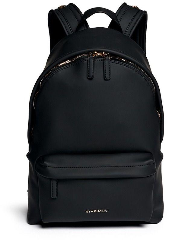 estilo de moda comprar nuevo nueva productos Mochila de Cuero Negra de Givenchy   Zaini   Mochila de ...