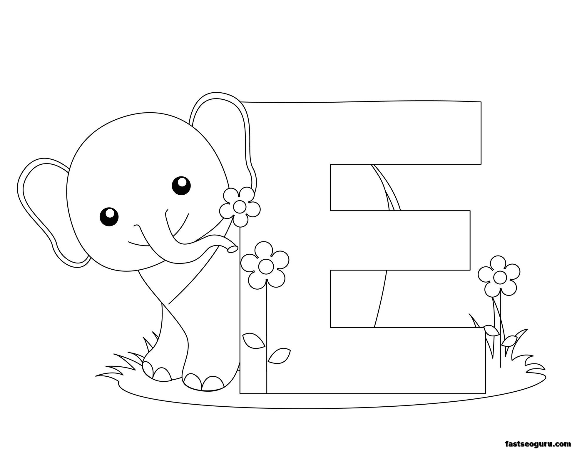 Printable Letter E Homepage Alphabet Printable Animal Alphabet Letter E For Abc Coloring Pages Elephant Coloring Page Abc Coloring