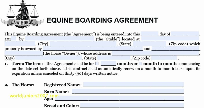Top Result New Boarder Agreement Template Photography 2017 Zat3 2017