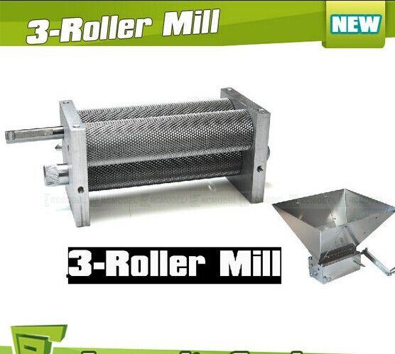 Brand New Barley Crusher Malt Grain 3-Roller Mill for Home