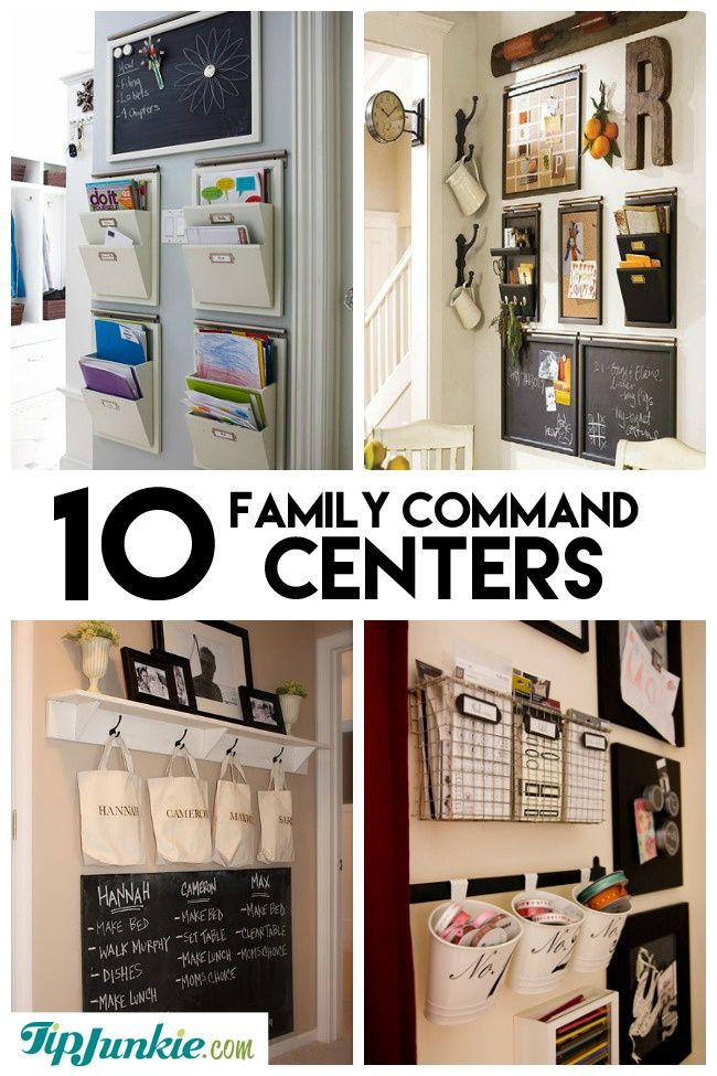 10 stylish family schedule and command center ideas organize