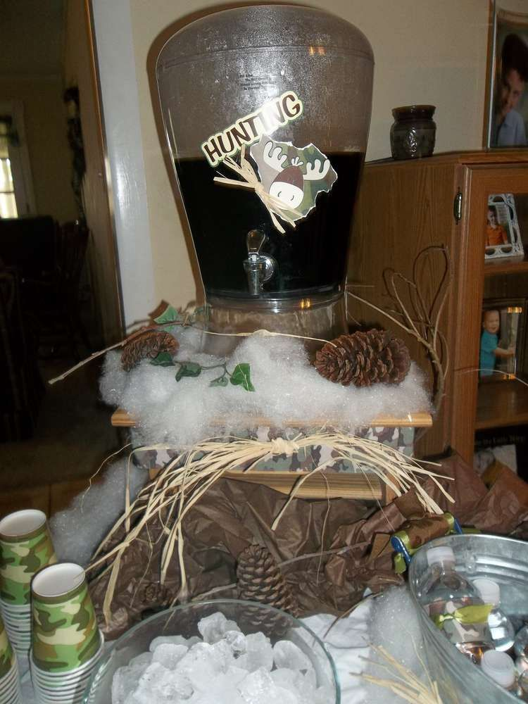 Huntingcamo Theme Baby Shower Party Ideas Baby Shower Parties And
