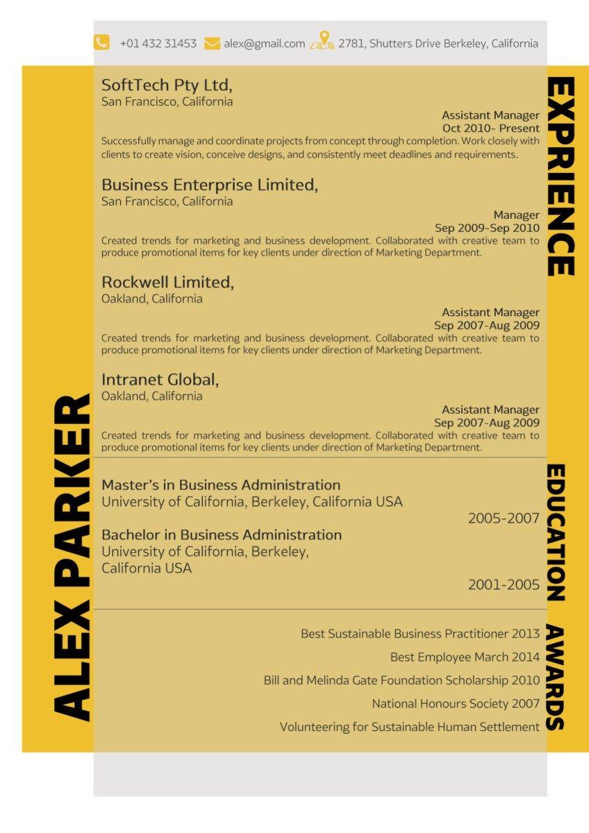 Orange Corporate Resume | Resume, Resume templates, Words