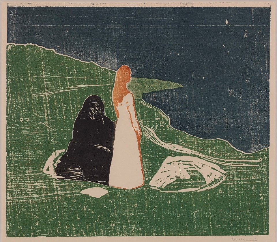 allotherthingsintheworld:    Edvard Munch - Women on the seashore (1898)