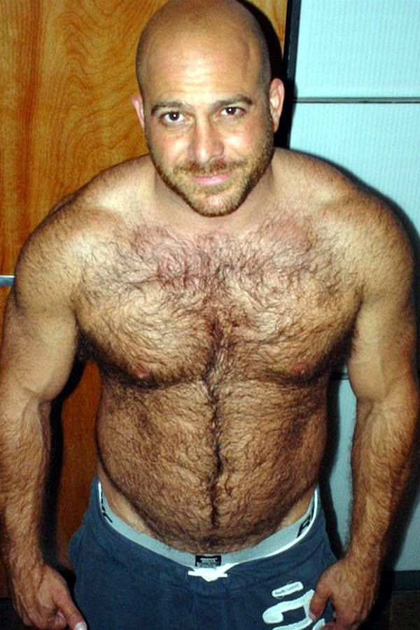 Hairy matures with young men