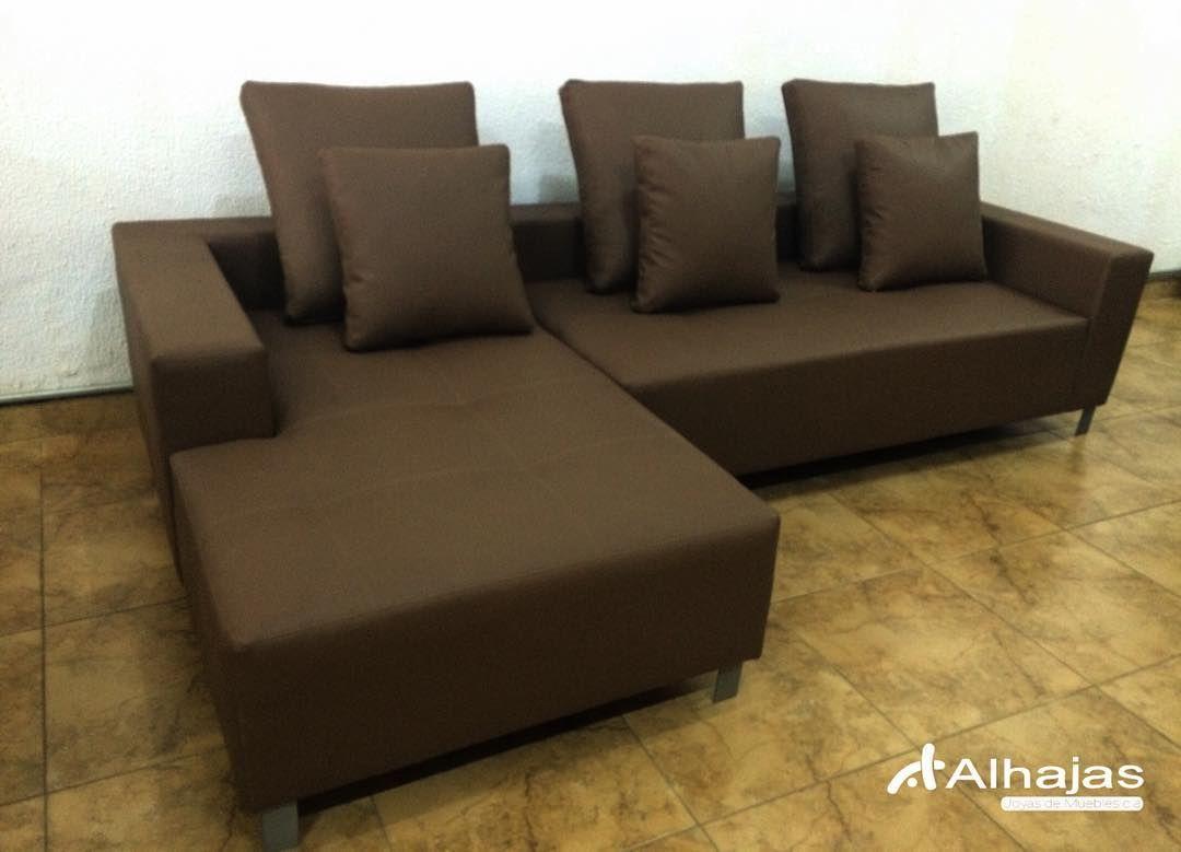 Nueva Mercancia Sof Mod Jersey Tapizado En Bipiel Color Moka  # Muebles En Bipiel Marron