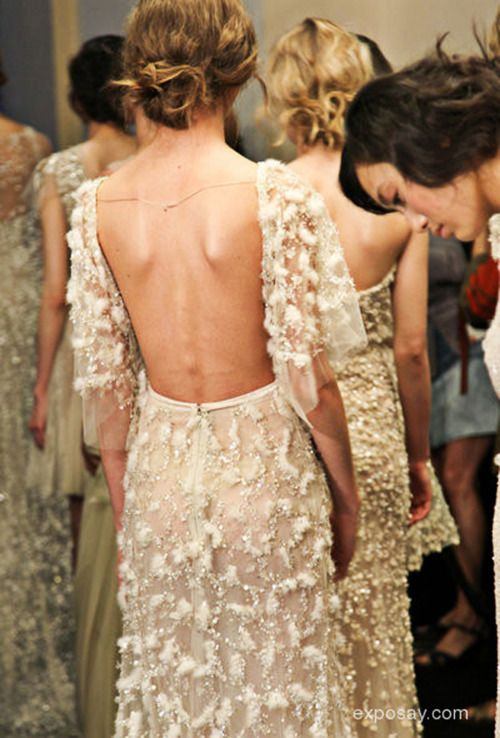 Sexy back dresses haute couture