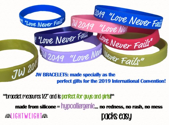 AVAILABLE NOW** Rubber bracelets for the 2019 International