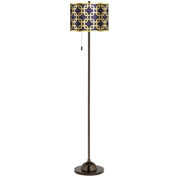 Lattice gold metallic giclee glow bronze club floor lamp 130 ❤ liked on polyvore featuring home lighting floor lamps purple gold floor lamp