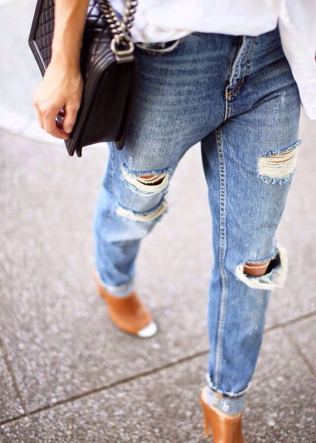 Bildresultat för slitna jeans dam outfit  a44cf04658d7a