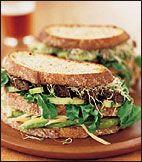 Roasted Portobello and Vegetable Club Sandwiches