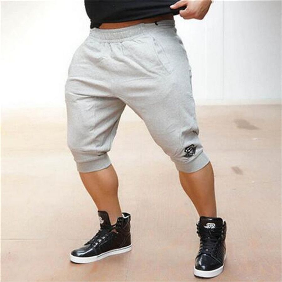 Clothing brand men shorts in the summer of 2017 fashion week solid cotton shorts more casual slim Fit size