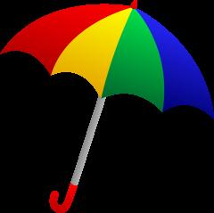 36+ Rainbow beach umbrella clipart information