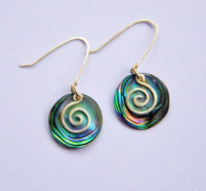 NZ Paua Shell & sterling silver earrings | Some of my ...