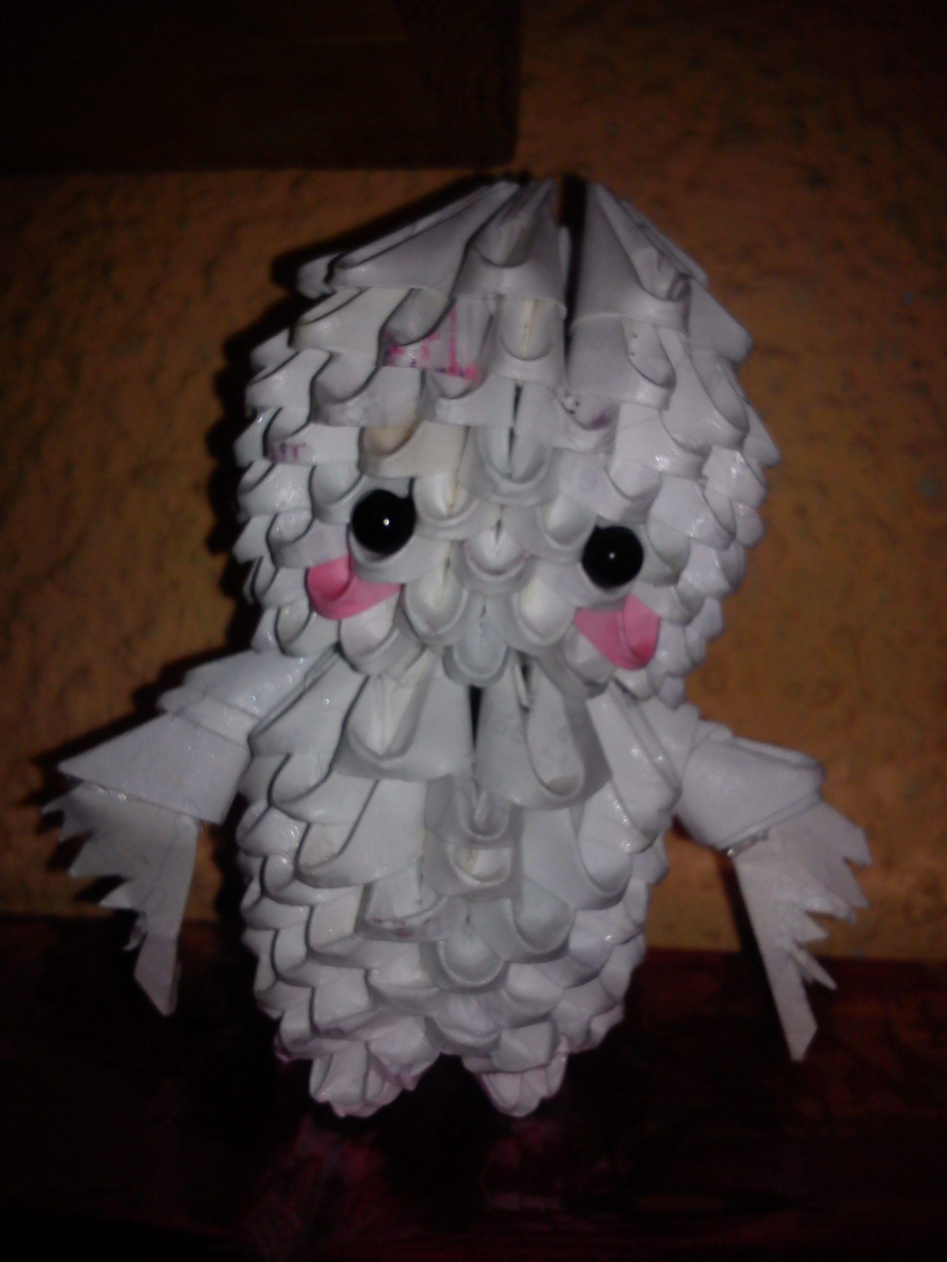3D Origami Ghost Kid