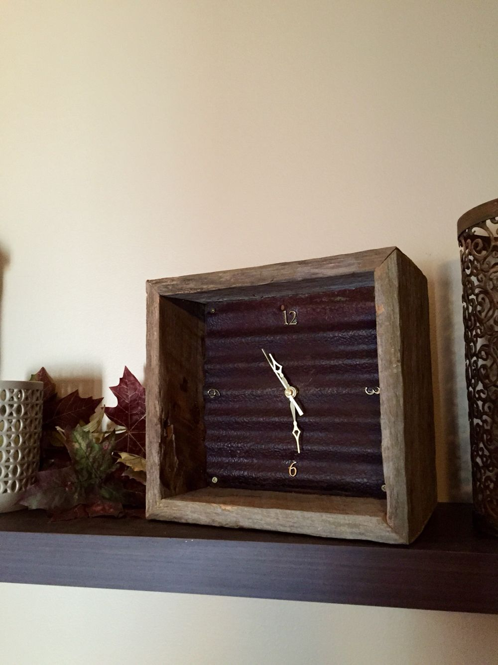 Rusty tin clock