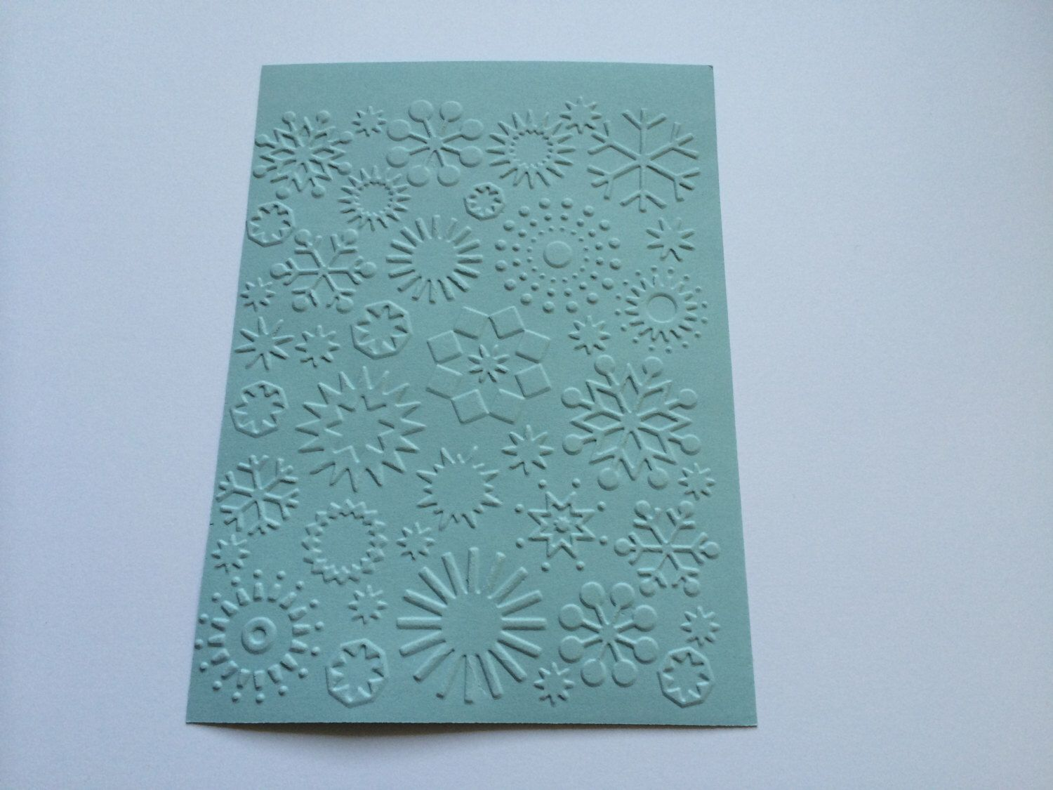 10 snowflakes embossed cardstock choose your color