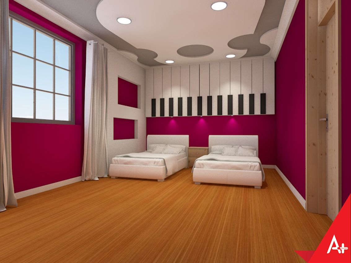 Girlsu bedroom design and decoration by aplus interiors