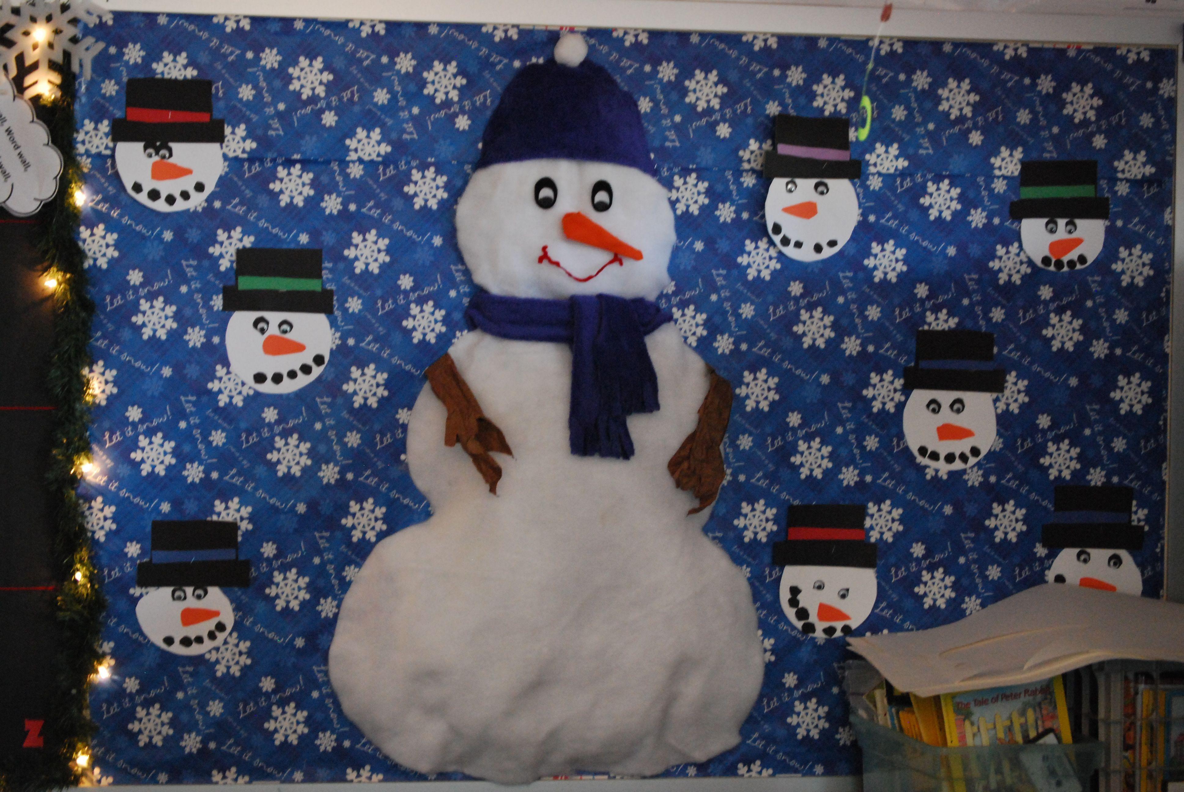 Snowman Bulletin Board Snowmen Activities Church Boards