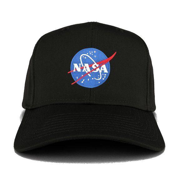 Armycrew NASA Insignia Logo Embroidered Cotton Adjustable Visor Cap