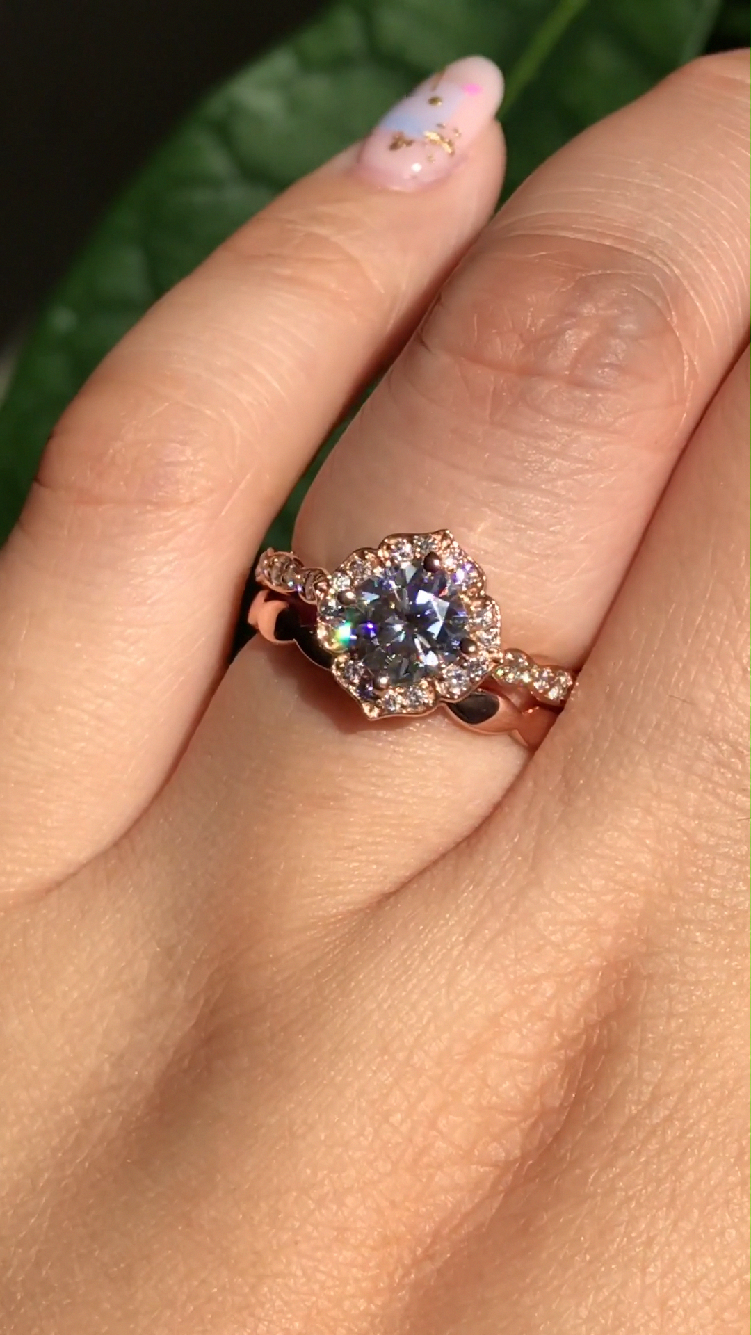 14k Rose Gold Round 7mm Mortganite Solitaire Bezel Engagement Wedding Anniversary Ring - Fine Jewelry Ideas#14k #7mm #anniversary #bezel #engagement #fine #gold #ideas #jewelry #mortganite #ring #rose #solitaire #wedding