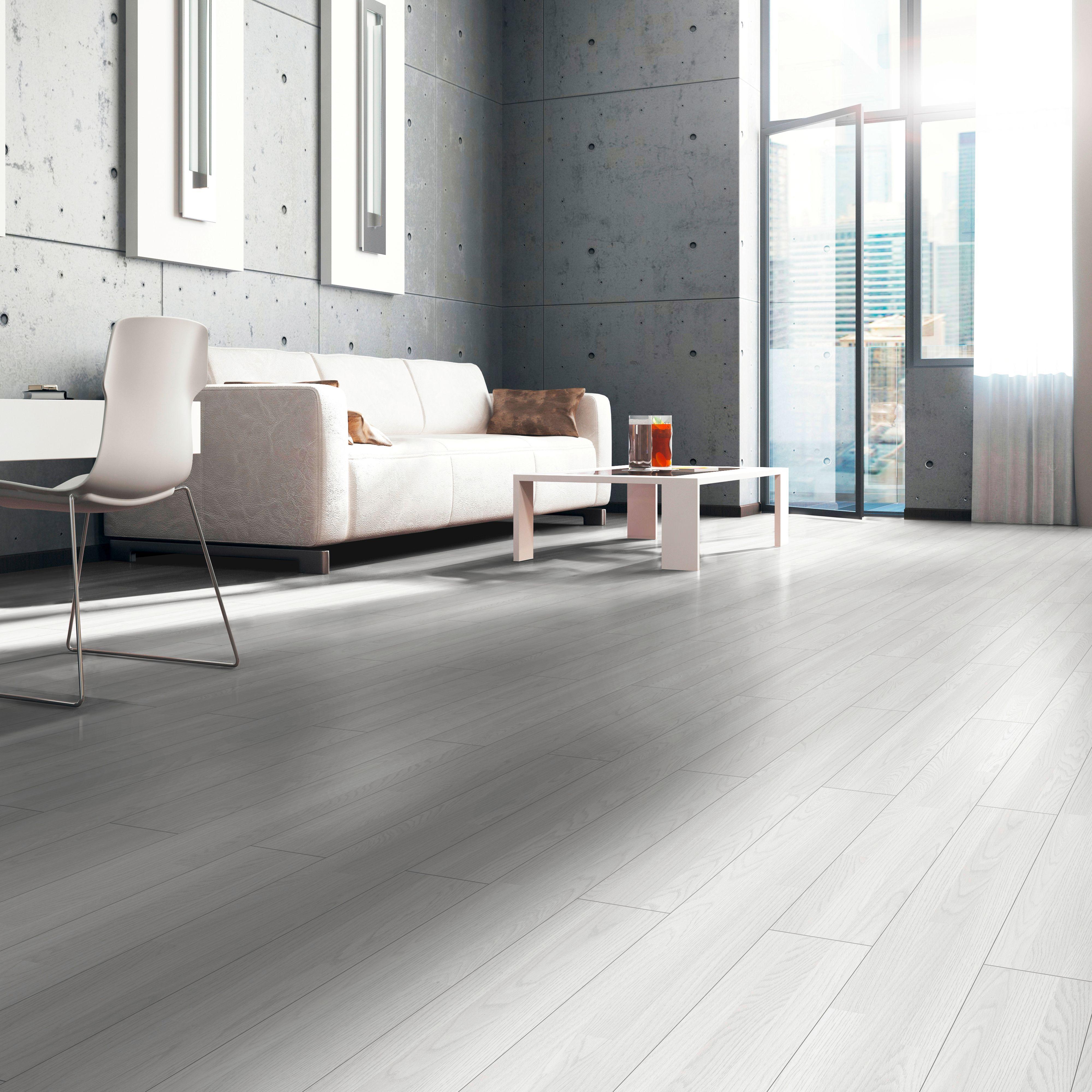 Whitewash Oak Whitewood Effect Laminate Flooring 3 m² Pack | Departments | DIY at B&Q