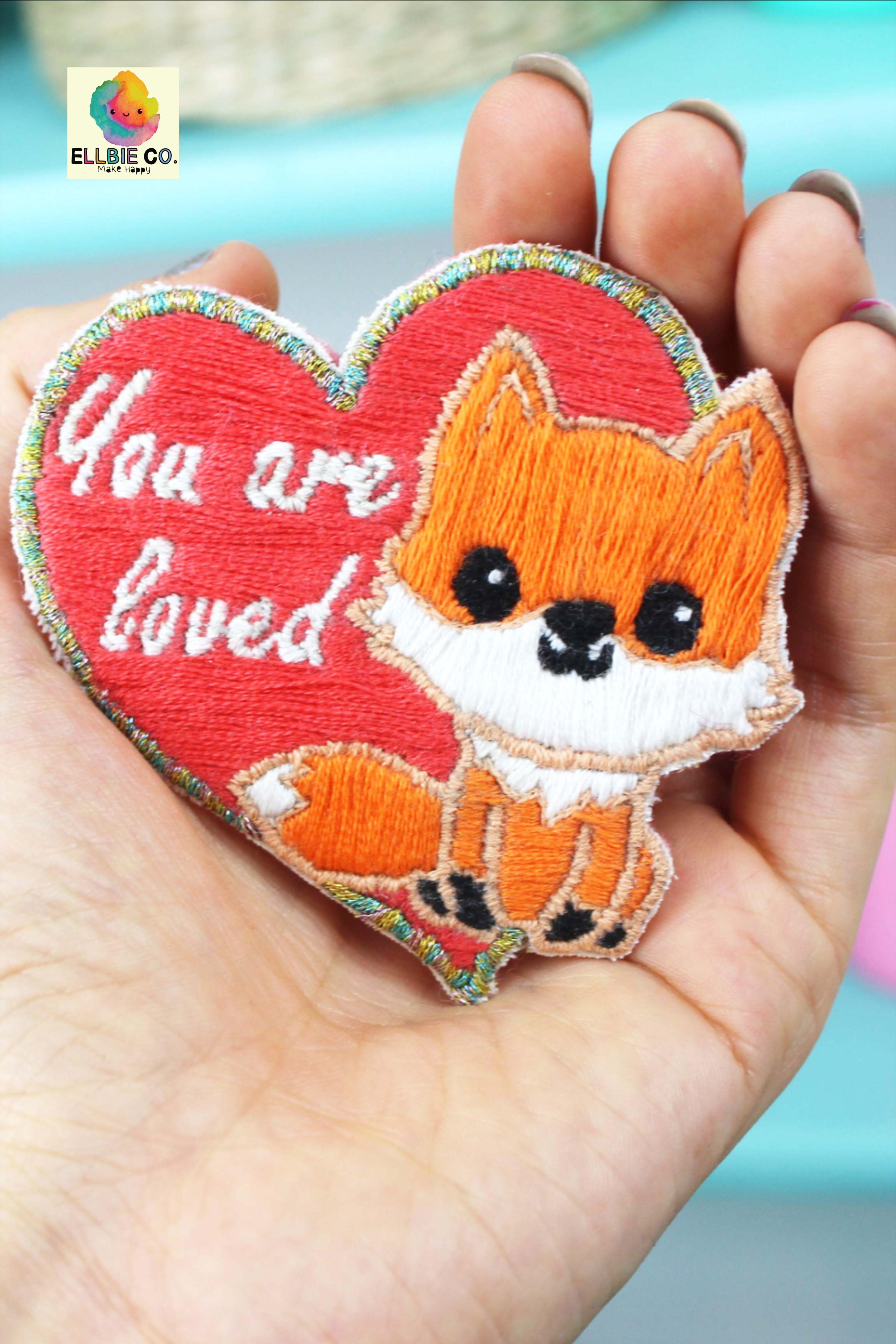 Diy fox embroidery patch kit ellbieco embroidery kits