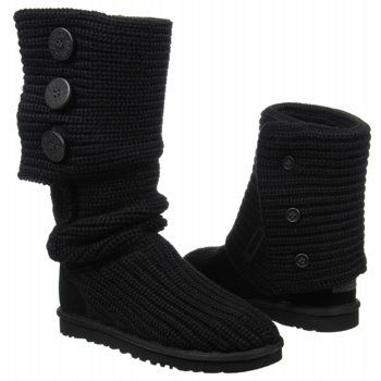 Womens Boots UGG Classic Cardy Black