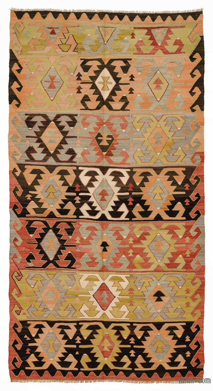 K0033111 Multicolor Vintage Konya Kilim Rug Rugs On Carpet Rugs Vintage Kilim Rug