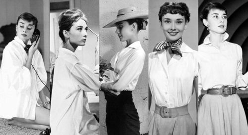 7c7527c0f057b Audrey Hepburn in the iconic white dress shirt